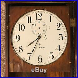 Large Antique Seth Thomas Regulator Wall Clock