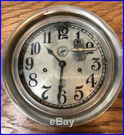 Large Ashcroft Manufactoring Company Seth Thomas Twin Wind Ships Railroad Clock