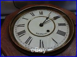 Late 1800s antique Seth Thomas Schoolhouse clock