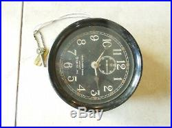 Mark I Boat Clock U. S. Navy 1942 WWII Maritime Marine Ship Clock w Key Works GD