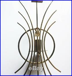 Mid Century Modern WALL CANDLE HOLDERS Seth Thomas Grandeur Sunburst Clock MCM