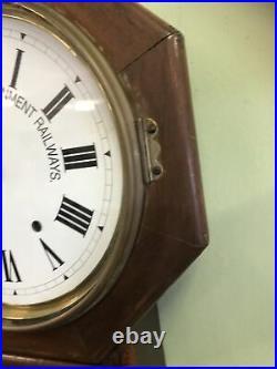 NSWGR Seth Thomas drop dial railway clock 8 day antique Australian wall clock