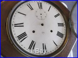 Nice Antique Seth Thomas 15-DayTime Only Mahogany World Wall Office/School Clock