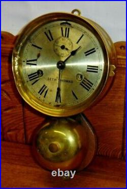 Old Seth Thomas Ships Bell Clock with Bell