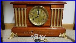RARE ANTIQUE COMPLETELY RESTORED Seth Thomas Alarm Adamantine Clock circa 1905