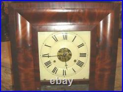 RARE Antique SETH THOMAS Brass Clocks Wall Clock. Weights Driven