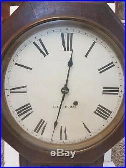 RARE Ca 1900 ANTIQUE SETH THOMAS OCTAGON 8 DAY CLOCK Working VG Conditon