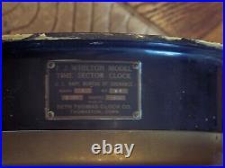 RARE Seth Thomas US Navy Time Sector Clock BIG & Early