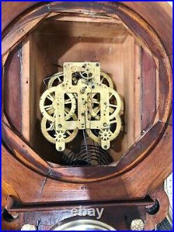 RESTORED Original Antique Seth Thomas Chime RIO Wall Clock #1887