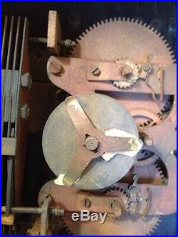 Rare Antique Eco Magneto Clock Co. Time Recorder Seth Thomas Movement Oak