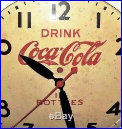 Rare Antique Original Coca Cola Seth Thomas advertising Clock Sign Nice