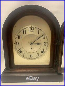 Rare Antique Seth Thomas Arch Top Mantel Clock Early Brass Movement