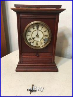 Rare Antique Seth Thomas Parlor Clock City Series Drop Front Drawer Unusual