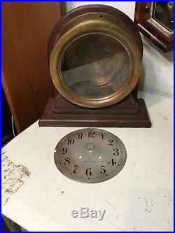Rare Antique Seth Thomas Pilot House Ships Clock Case & Stand 8+ Dial