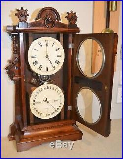 Rare & Fully Restored Seth Thomas Parlor Calendar No. 9 1885 Antique Clock