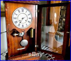 Rare Seth Thomas Garfield Antique Parlor/Mantel/ 2 Weight Regulator Clock