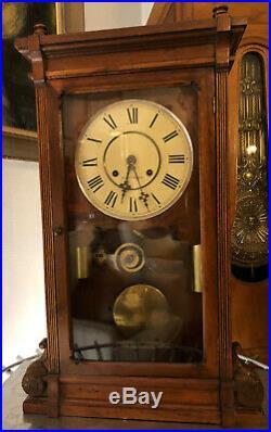 Rare Seth Thomas Lincoln Antique Parlor/Mantel/ 2 Weight Regulator Clock