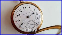 Rare Seth Thomas No 260 18S 21J Adj 6 Pos Pocket Watch Brooklyn Watch Case Co