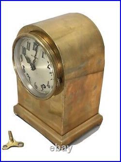 Rare Vintage Antique USA Seth Thomas Strikes Keywound Bronze Clock W Pendulum