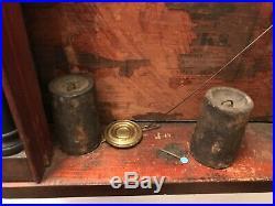 Rare antique seth thomas, eli terry wood works clock, circa 1829