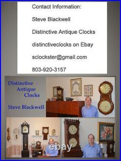 Restored And Scarce Seth Thomas Kent-1904 Antique Cabinet Clock Burl & Oak