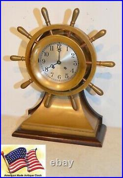 Restored & Rare Chelsea Grand Mariner Sn182510 1927 Ships Bell Strike Clock