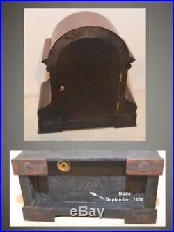Restored Rare Seth Thomas Milan 1906 Fine Antique City Series Cabinet Clock