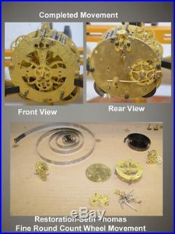 Restored Seth Thomas Beta-1896 Fine Porcelain Case Antique Mantle Clock