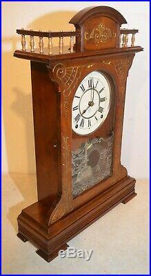 Restored Seth Thomas Buffalo-1885 City Series Antique Cabinet Clock In Walnut
