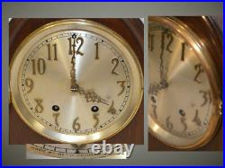 Restored Seth Thomas York No. 4 Antique Gothic Cabinet Clock In Mahogany