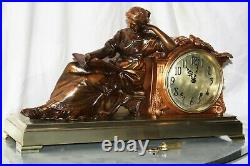 SETH THOMAS Mantel Antique Clock c/1917- FULLY RESTORED -Model NEW REPOSE