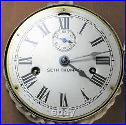 Seth Thomas 6 Ship's Clock Maritime Vintage Runs NEEDS SERVICE