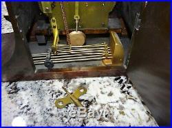Seth Thomas #74 Mantel Clock 113 Movement Westminster Chime Vtg Antique RUNS
