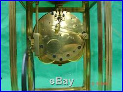 Seth Thomas 8 Day Classic Corniche Crystal Regulator 4 Glass Mantle Clock