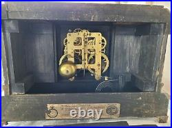 Seth Thomas Adamantine Clock Antique Mantle Clock Shelf Clock Chimes Working