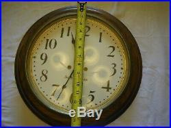 Seth Thomas Antique Arcade Wall Clock