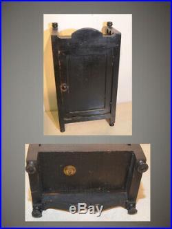 Seth Thomas Bee-1881 Antique Fine Cabinet Clock Ebonized Walnut With Bees