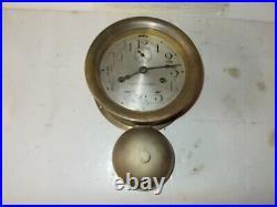 Seth Thomas Brass Outside Bell Ships Strike 8 Day Ships Clock Circa. 1910