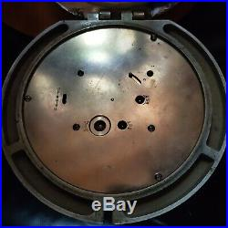 Seth Thomas Mark 1 Deck Clock U. S. Navy Ship Bulkhead 1940 Bronze Running with Key