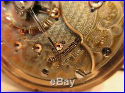 Seth Thomas Railroad 18 Size Open Face Pocket Watch Model 5 Maiden Lane 25 Jewel