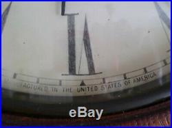 Seth Thomas Regulator No. 18. Antique Solid Oak Wood Wall Regulator Clock