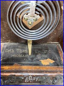 Seth Thomas Santa Fe 1885 City Series Mantle Clock Antique Ornate Case