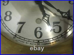 Seth Thomas Ship's Clock, Solid Brass