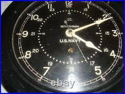 Seth Thomas US Navy Ship's Clock #5165 WWII Era