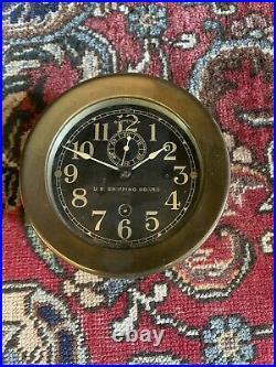 Seth Thomas US Shipping Board Clock Porthole Ships Clock