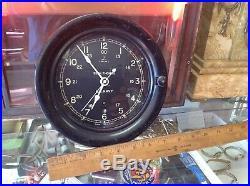 Seth Thomas Us Navy Ship Clock Ww II Vintage Excellent Condition USA