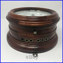 Ship's Bell Clock, Seth Thomas, Wood Case, circa 1881