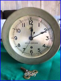 US Lighthouse Service Ship Clock Seth Thomas USLHS