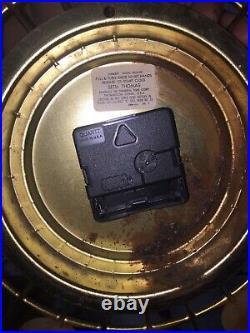 Vintage Mid Century Modern Seth Thomas Starburst CONCEPT Wall Clock Atomic