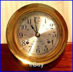 Vintage Seth Thomas Corsair E537-000 Ships Bell Clock & E537-010 Barometer Set